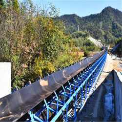 Lange-afstandstransporteur in het bandtransportsysteem van de cementfabriek