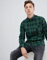 주문 고품질 남자의 면 Flannel 셔츠
