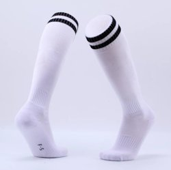 Em Stock Branco Pega Antiderrapagem Sports meias de futebol