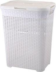 70 litres avec couvercle Rattique Blanchisserie entraver/panier en plastique