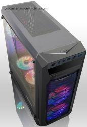 PSU 도박 케이스 강화 유리 탑 상자에 의해 커버되는 PC 상자 바닥 ATX