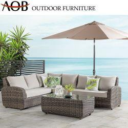 Hôtel moderne de patio du jardin extérieur Balcon Salon Set de meubles en rotin de loisirs de coupe canapé en osier