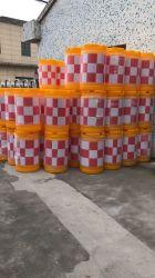 Round tráfego reflexivo água anticolisão preenchido o canhão de barreira