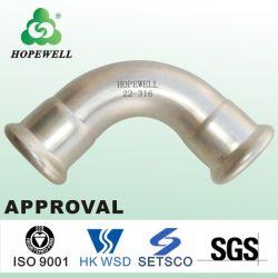 Le manchon du tuyau en acier inoxydable 316 90 degré Connecteur tableau de connexion transparente ronde d'épaisseur de 1 pouce de la plomberie du conduit d'épaisseur de paroi de coude