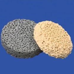 Zirconia/ZRO2/filtro de espuma de cerámica de óxido de zirconio 1700 C para acero al carbono, aleaciones de acero y fundición de acero inoxidable
