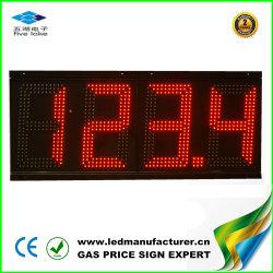 شاشة LED حمراء مقاس 8 بوصات، 888.8، سعر الغاز الخارجي لوحة الإعلانات
