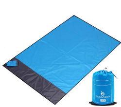 昇進のギフトのための砂のRepeellantのパラシュートポリエステルピクニック浜毛布のマット