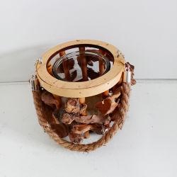 Lanterna Handmade del materiale del documento di figura rotonda
