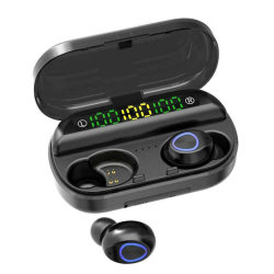 F10 Stereo de Tws pantalla LED digital auricular inalámbrico con caja de carga