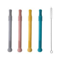 Mordedor Silicone sem BPA sensoriais do tubo tubo dentição brinquedos