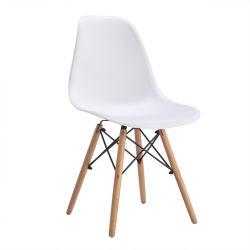 저렴한 휴대용 Nordic Garden 파티오 커피 메탈 우드 다리 플라스틱 시트 현대적인 레저 실외 홈 베드룸 주방 거실 식사 객실 가구 의자