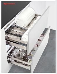 Kitchen Cabinet Cajón Cesta de placa de acero inoxidable correderas tipo sacar canastos