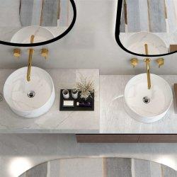 Surface solide acrylique pur Comptoir du dissipateur de lavage Salle de bains lavabo