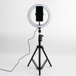 """Anillo de luz LED 10"""" con trípode soporte para teléfono mando a distancia 2800K-6500K mesa regulable Lámpara de luz de la cámara de 3 modos de vídeo de Youtube Live Photo Studio"""