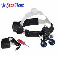 Projecteur à LED sans fil de matériel dentaire, chirurgie dentaire Loupe verre loupe dentaire