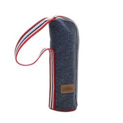 Refroidisseur de bouteille thermique de promotion des sacs coupe d'Oxford de pique-nique Denim sac isotherme