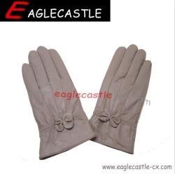 Женщины, модные кожаные перчатки, теплые перчатки, зимние рукавицы, лампа исправлений кожаные перчатки (CXG19112)
