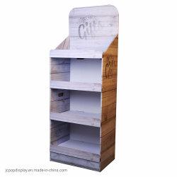 Pop up expositor de cartón, cartón Expositor de suelo, estanterías, pantalla de papel cartón ondulado