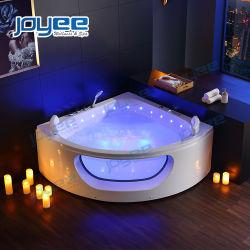 Casa de banho banheira jacuzzi interior Canto do sector do vidro Nova banheira de jacuzzi com chuveiro de gavetas