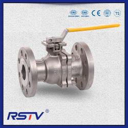 API & ASME & DIN & JIS Stainless Steel CF8m/CF8/WCB 2PC Floating 플랜지 볼 밸브