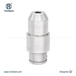 Parti di tornitura di precisione CNC in acciaio inox personalizzate lavorazione di componenti di smussatura