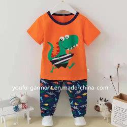 Abbigliamento bambini Abbigliamento bambini Pajama Calzature cute 100% cotone Bambini Abbigliamento manica corta