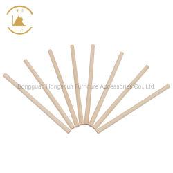 Directa de Fábrica las varillas de espiga de madera acabado madera de abedul Bastón recto y suave para el bricolaje manualidades y Tamaños personalizados