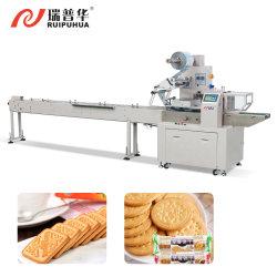 자동 베이커리 음식 크래커 샌드위치 비스킷 쿠키 트레이 가장자리 없음 팩 포장 흐름 포장 패키지 포장 기계