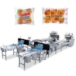 Автоматическая печенье/мгновенного лапша/вальцы/булочки/выпечки хлеба/Hot Dog/Бургер и хлебобулочных изделий продовольственной опорный расход горизонтальной упаковки упаковочные линии упаковки машины