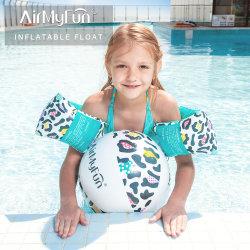 Пвх Leopard надувной мяч на пляже водных игрушек нарукавные повязки для детей