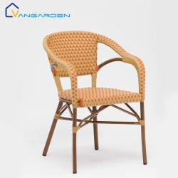 Высокое качество укладки со сдвигом погода доказательства для использования вне помещений французского Vintage Alominium плетеной бистро обеденный стул