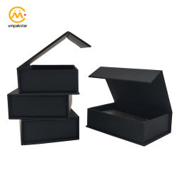 Настраиваемый логотип черного цвета для печати бумага магнитные картон упаковке для Business Card