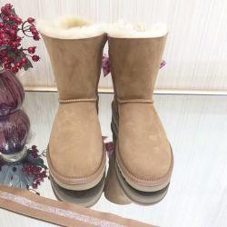 Bottes de neige épaisse s' chaud Femmes Chaussures Chaussures de mode des chaussures plates dame