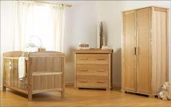 أزياء حديثة من الخشب الصلب الأثاث خزانة الملابس خزانة الملابس أدراج من الجانب سرير الأطفال