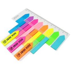Симпатичные Цветные стрелки ПЭТ в форме записки пленки индекс флаги липких Блокнот