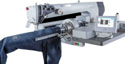 Macchina per cucire industriale di JYL-3916R per la base rotonda di Leng Thened con la grande macchina per cucire di area di lavoro per i jeans