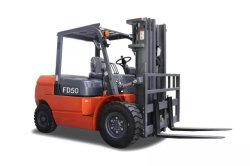 Chariot élévateur à fourche de 5 tonnes diesel avec moteur Isuzu japonais fourche de levage diesel