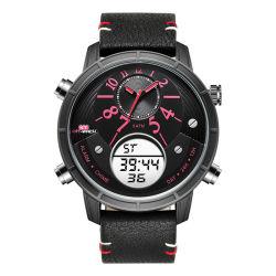 Reloj digital de cuarzo de moda regalos impermeable reloj Dual Time Calidad Cronógrafo impermeable reloj reloj de plástico