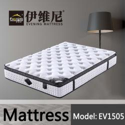 Muelle de bolsillo mayorista de muebles de dormitorio Hotel cama con colchón de espuma de alta densidad