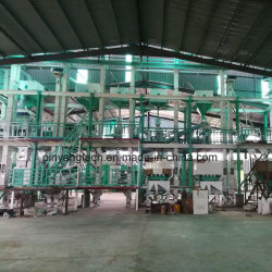 80-100 Philippiesで使用される米製造所のための自動米製造所の機械装置トンの完全セットの