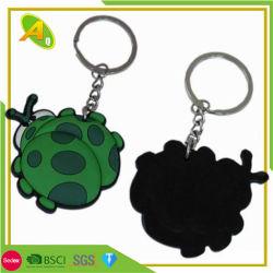 Anello chiave molle del PVC dell'insetto dei bambini del regalo sveglio su ordinazione della decorazione (260)