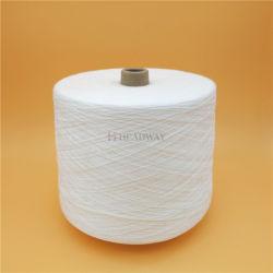 100% poliéster resistente fibras descontínuas de poliéster para costura branca bruto brilhante 100% de fibras de poliéster bonderizado de Avanço