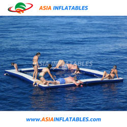 Piscina de Natação inflável com Net Jogar sobre a água