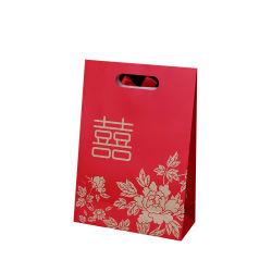 Goede Kwaliteit Handgemaakte Bruiloft Candy Bag Sweet Bags Custom Die Cut Handvat