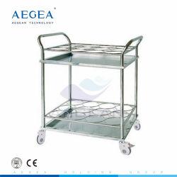 AG-ss021un hôpital chirurgical en acier inoxydable de meubles en métal Chariot pour ordinateur portable médical