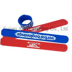 PVC coloré de promotion de l'impression silicone bande Slap