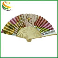 Bambú promocional abanicos de papel plegado