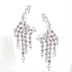 Mode bijoux 925 Sterling Silver bijoux en diamants lustre de luxe Hoop Earrings
