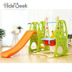 Les jouets en plastique de la série populaire avec toboggan et rotation (HBS17001C)