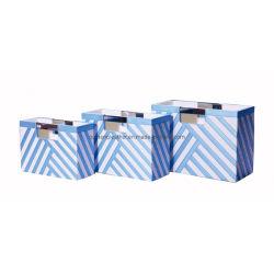 Cuir synthétique bleu du Magazine Organzier Panier
